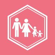 Family home relationship Stock Illustration