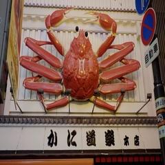 Classic Osaka King Crab restaurant signage, japan Stock Footage