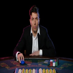 Man in a casino winning on the roulette. Close up Stock Footage
