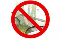 Dirty smelly Underpants in Prohibited sign, 3d illustration Stock Illustration