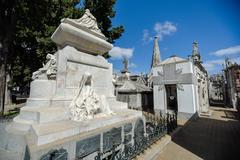 View of the tomb of President Carlos Pellegrini Stock Photos