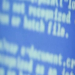 Recording from computer screen letter and number code  Stock Footage