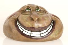 Hand-painted Friendly Rock Stock Photos