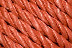 Red Rope Background Running Diagonally Stock Photos