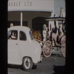 1961: horse and buggy is the way to go. NASSAU Stock Footage