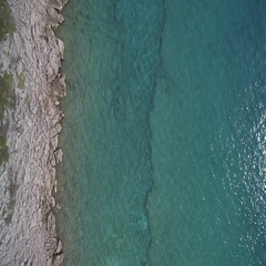 Aerial,Vertical Flight Along Croatian Coast-Line - Native Material Stock Footage