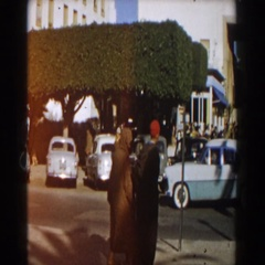 1959: random group of people walking and socializing on the street. CASABLANCA Arkistovideo