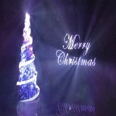 Luminous Crystal Christmas Tree Stock Footage