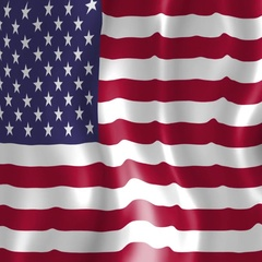 American Flag - Animated Background Stock Footage