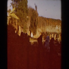 1959: green bushes that have been shaped in front of a building CASABLANCA Arkistovideo