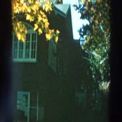1964: autumn day overlooking a pretty house. LAKE WINNEBAGO WISCONSIN Stock Footage