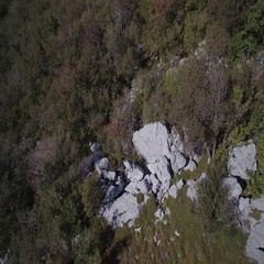 Aerial, View On Beautiful Croatian Coasts - Native Material. Stock Footage