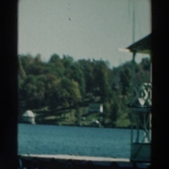 1964: viewing of a deep, wide lake. LAKE WINNEBAGO WISCONSIN Stock Footage