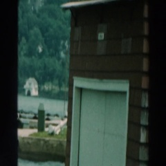 1964: view of a random object that appears like it belongs in water  Stock Footage