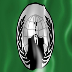 Flapping flag of the online hacker group Anonymous Stock Footage