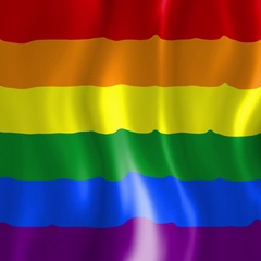 Homosexual Community - Gay Pride Flag - LGBTQ Symbol Stock Footage