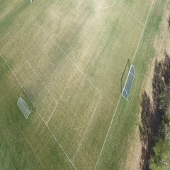 High view of soccer field COLORADO Stock Footage