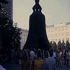 Moscow 1975: The Tsar Bell near the Kremlin Stock Footage