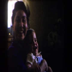1958: mother spending quality time with her baby. CALIFORNIA Stock Footage