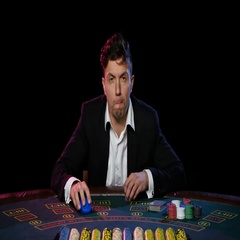 Lose the game of online poker. Close up Stock Footage