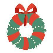 Christmas branch vector illustration. Stock Illustration