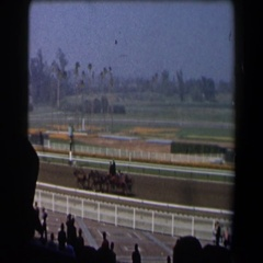 1958: i bet you that the one you chose will not win in this race today Stock Footage