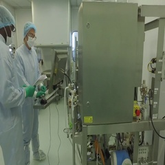 Medical research implant -  Equipment for chemical analysis Stock Footage