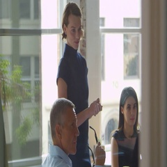 Businesspeople Meet In Boardroom Through Glass Shot On R3D Stock Footage