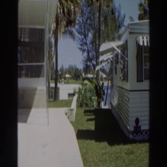 1966: viewing of a nice looking mobile home. PUERTO RICO Stock Footage