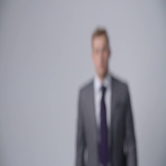 Slow Motion Sequence Of Businessman Wearing Suit Stock Footage