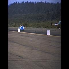 Vintage 16mm film, 1965 SCCA roadcourse race lap and pit lane Stock Footage