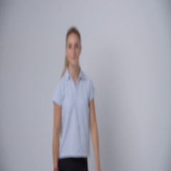 Slow Motion Sequence Of Casually Dressed Woman In Studio Stock Footage