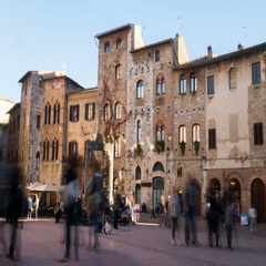 Timelapse of San Gimignano square Stock Footage