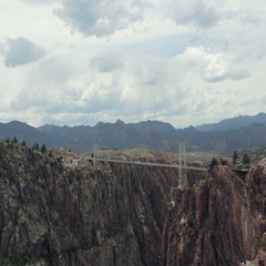 Royal gorge fast motion Stock Footage