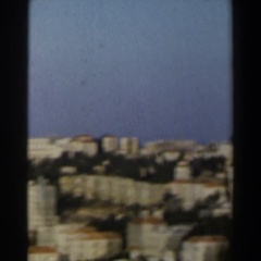 1960: journey through a land with so many buildings in a vast area ISRAEL Stock Footage