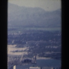 1960: a panorama of a town and the surrounding landscape ISRAEL Stock Footage