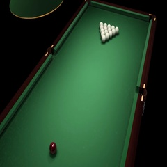 Russian billiards. First hit. Stock Footage