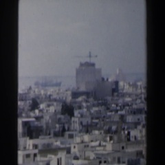 1960: brief overview across the rooftops of a very full city ISRAEL Stock Footage
