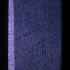 1959: visiting gravestone of a family member IOWA Stock Footage