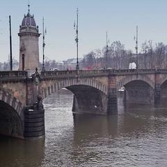 Bridge over river. Stock Footage