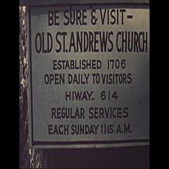 Vintage 16mm film, 1952, Charelston NC church b-roll Stock Footage