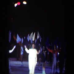 1960: many wonderful entertainers standing on the ice to accept applause. Stock Footage