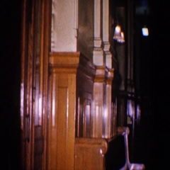 1960: empty restaurant with bar. BALTIMORE MARYLAND Stock Footage