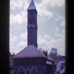 1960: view of random building tops. BALTIMORE MARYLAND Stock Footage
