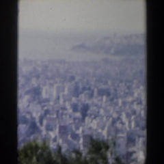 1960: a panorama of a large city, seen from afar ISRAEL Stock Footage