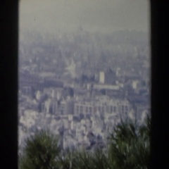 1960: view of a faraway city. ISRAEL Stock Footage