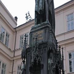Monuments Prague. Karl  Stock Footage