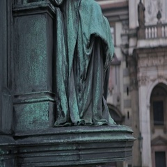 Prague. Monument to Charles IV Stock Footage