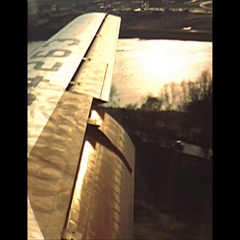 Vintage 16mm film, 1952, Convair landing at Washington DC airport Stock Footage