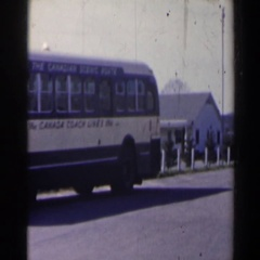 1963: normal viewing of vehicles traveling on the street. NIAGARA FALLS Stock Footage